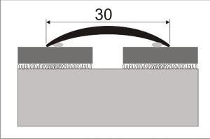 Cena za kus: Přechodový profil přechodová lišta 30mm délka 93cm samolepící dekor kov, Dekor Zlatá 00