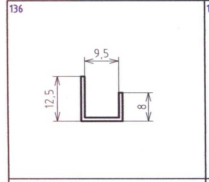 Profil pro sádrokarton U 9,5mm délka 2,5m