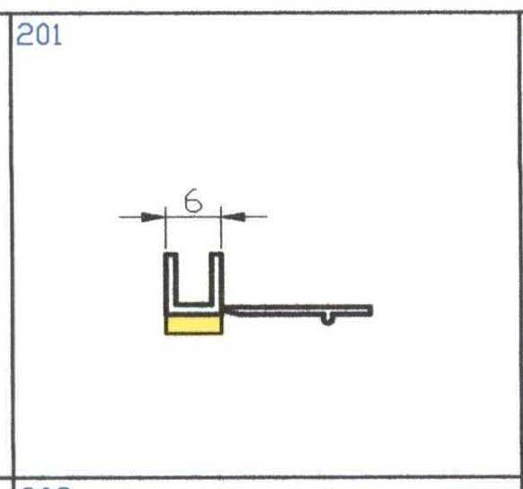 Začišťovací lišta APU 6mm délka 2,4m