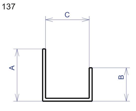 Profil pro sádrokarton U 15mm délka 2,5m